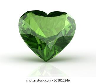 Peridot jewel (high resolution 3D image) 3D illustration