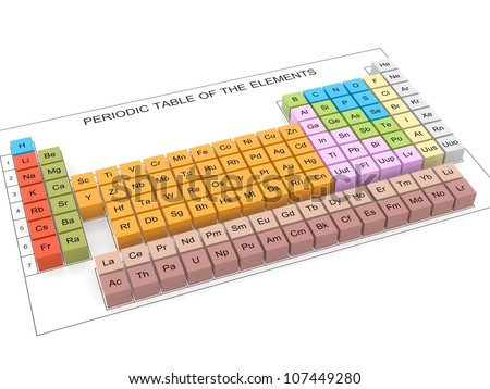 Periodic Table Elements 3 D Stock Illustration 107449280 Shutterstock