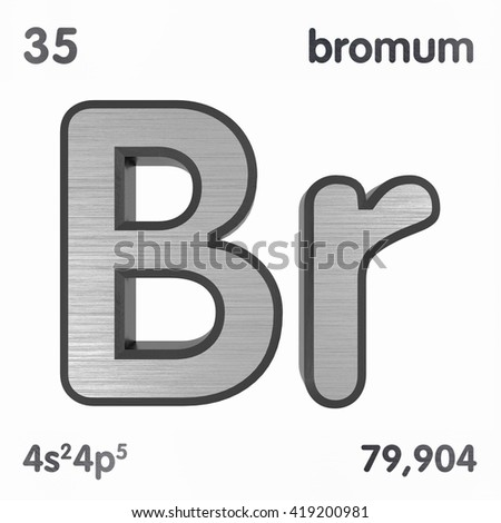 Periodic Table Elements Bromine 3 D Title Stock Illustration