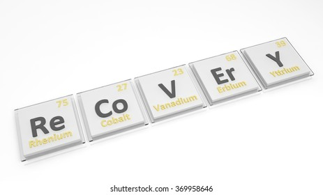 Periodic table elements symbols used form stock illustration periodic table of elements symbols used to form word recovery isolated on white urtaz Gallery