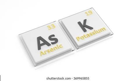 Periodic table elements symbols used form stock illustration periodic table of elements symbols used to form word ask isolated on white urtaz Gallery