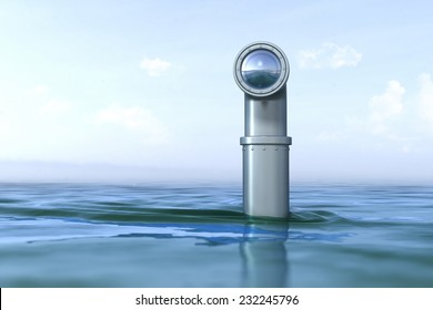 Periscope above the water