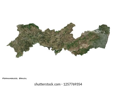 Pernambuco, Brazil Map (3D illustration)