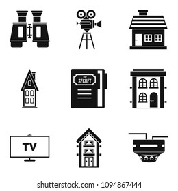 Persecution icons set. Simple set of 9 persecution icons for web isolated on white background