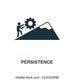 Persistence creative icon. Simple element illustration. Persistence concept symbol design from soft skills collection. Can be used for mobile and web design, apps, software, print.