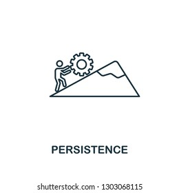 Persistence icon. Thin outline creativePersistence design from soft skills collection. Web design, apps, software and print usage.