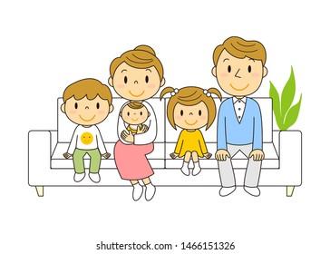 Person Family Lovely Illustration Cartoon