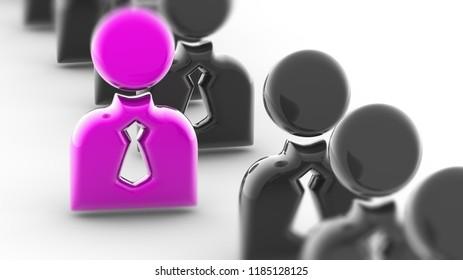 Person icon. 3D Illustration.