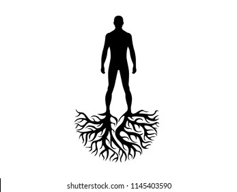 Person roots personality and heritage illustration