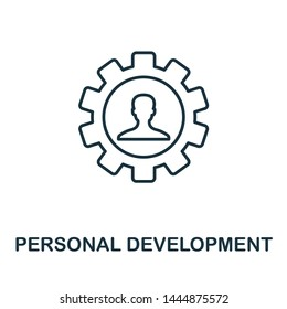 Personal Development outline icon. Thin line concept element from business management icons collection. Creative Personal Development icon for mobile apps and web usage.