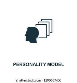 Personality Model icon. Premium style design from personality collection. Pixel perfect personality model icon for web design, apps, software, printing usage.