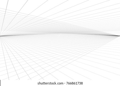 perspective drawing line paper