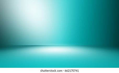 perspective floor backdrop blue room studio with gray gradient spotlight backdrop background for display your product or artwork