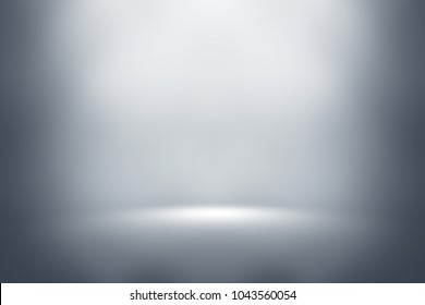 perspective floor backdrop Gray room studio with gray gradient spotlight backdrop background for display your product or artwork