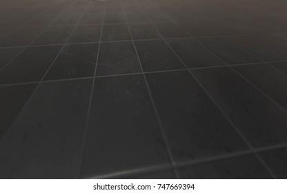 Perspective Tiles Texture 3D Illustration Background