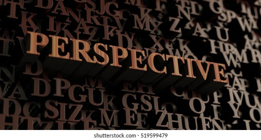 Perspective - Wooden 3D rendered letters/message.  Can be used for an online banner ad or a print postcard.