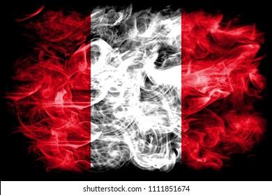 Peru smoke flag
