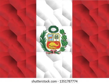 Peruvian flag background