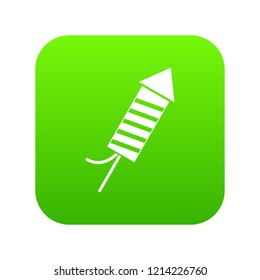 Petard icon digital green for any design isolated on white illustration