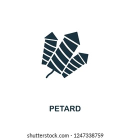 Petard icon. Premium style design from christmas collection. UX and UI. Pixel perfect petard icon for web design, apps, software, printing usage.