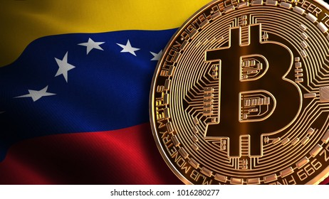 Petro Venezuela's cryptocurrency, Bitcoin BANNED, Not Illegal, Ban BTC, block chain technology for crypto currency, 3D Rendering