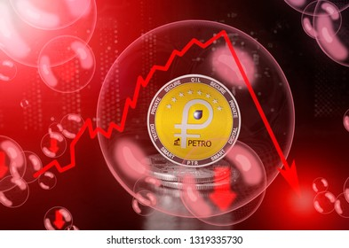 Petro (PTR) coin in a soap bubble. Risks and dangers of investing to petro. Collapse of the exchange rate. Unstable concept