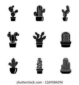 Peyote icons set. Simple set of 9 peyote icons for web isolated on white background