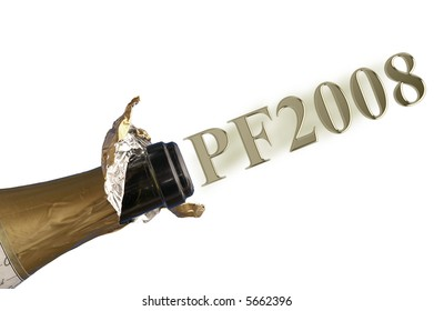 PF 2008 with champagne