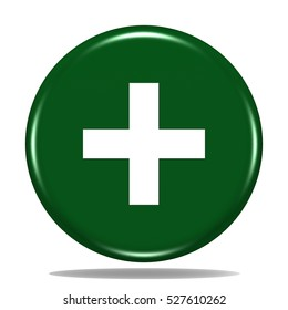 pharmacy icon. Internet button.3d illustration.