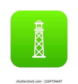 Pharos icon green isolated on white background
