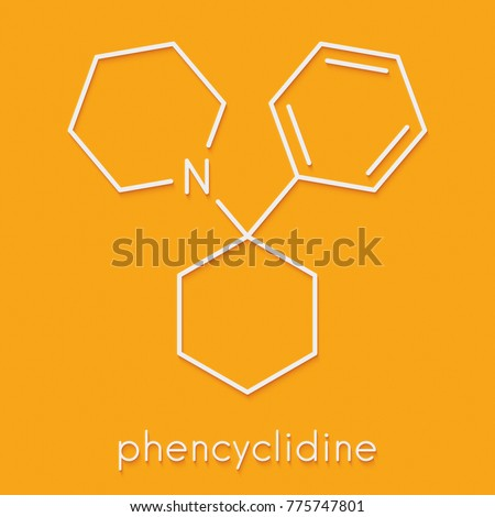 Phencyclidine Pcp Angel Dust Hallucinogenic Drug Stock Illustration