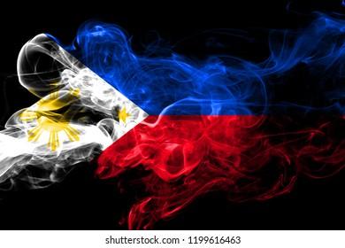 Philipines colorful smoking flag 2018