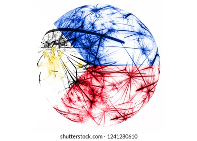 Philipines fireworks sparkling flag ball. New Year, Christmas and National day ornament and decoration concept