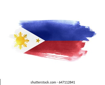 Philippines flag grunge painted background