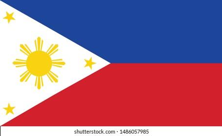 Philippines flag illustration,textured background, Symbols of Philippines