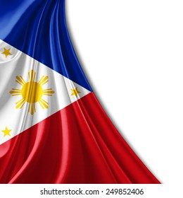 Philippines flag and white background