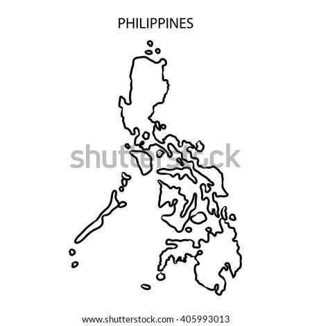Philippines Map Outline Stock Illustration 405993013 Shutterstock