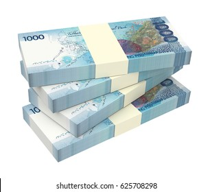 Philippines money isolated on white background. 3D illustration.