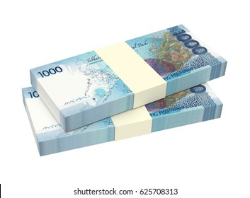Philippines money isolated on white background. 3D illustration.