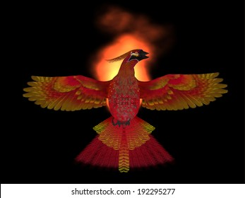 Phoenix Bird Fire  - The Phoenix Bird is a symbol of new beginnings and rising from ashes of its previous demise.