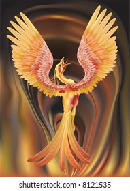A phoenix rising from the ashes