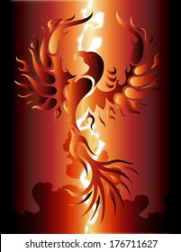 A phoenix rising / Phoenix Rising / A beautiful phoenix rising from the ashes.