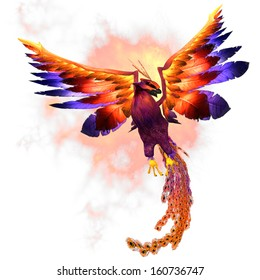 Phoenix Rising - The Phoenix firebird is a mythical symbol of regeneration or renewal of life.