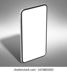 phone 3D rendering mockup