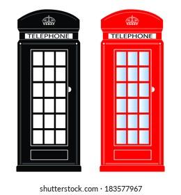 Phone booth,  illustration