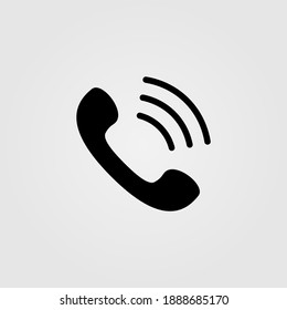 Phone call icon. Telephone ringing symbol. Web site page and mobile app design element.