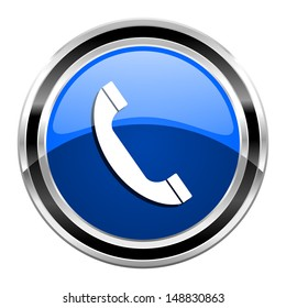 Blue Phone Icon Images, Stock Photos & Vectors | Shutterstock