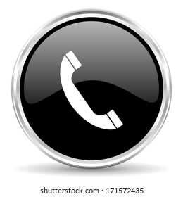Circle Phone Icon Images, Stock Photos & Vectors | Shutterstock