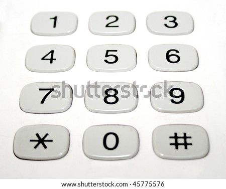 Phone Number Pad Buttons Stock Illustration 45775576 Shutterstock