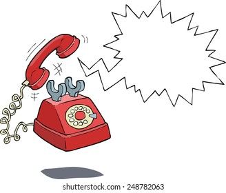 The phone rings on a white background raster version